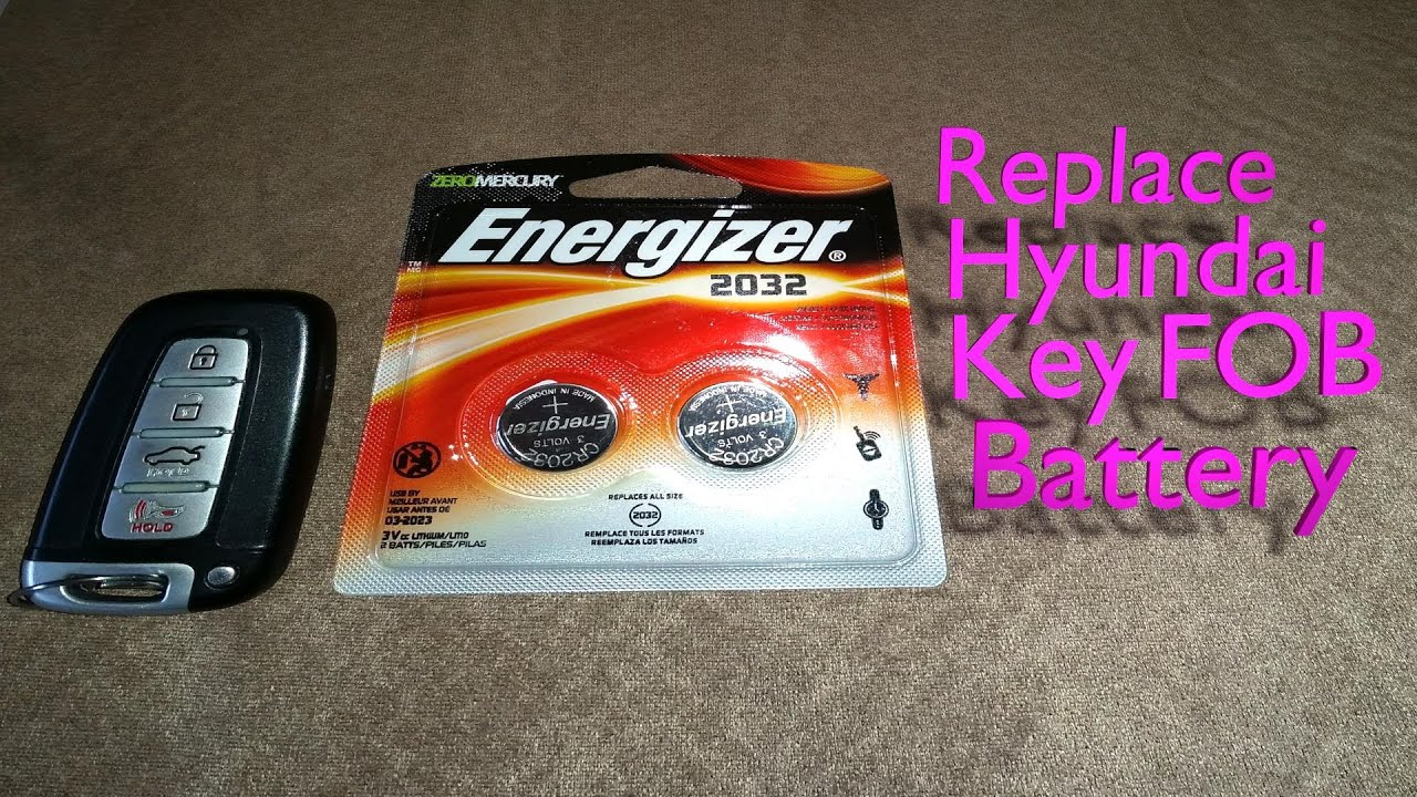 Replace Hyundai Key Fob Battery Youtube