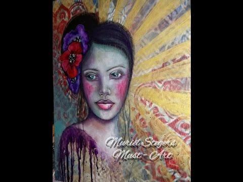 Mixed Media Portrait - Full Mini Lesson - Let's Face It 2016