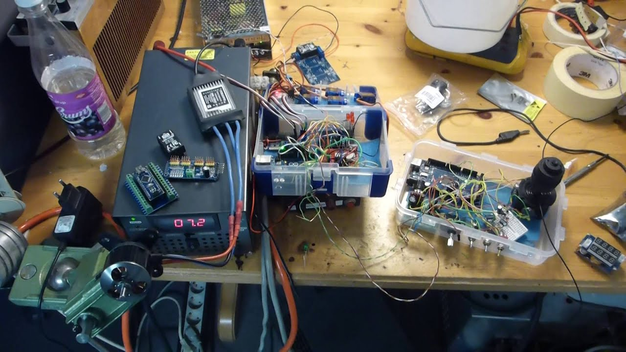 Test of diy rov arduino control system youtube