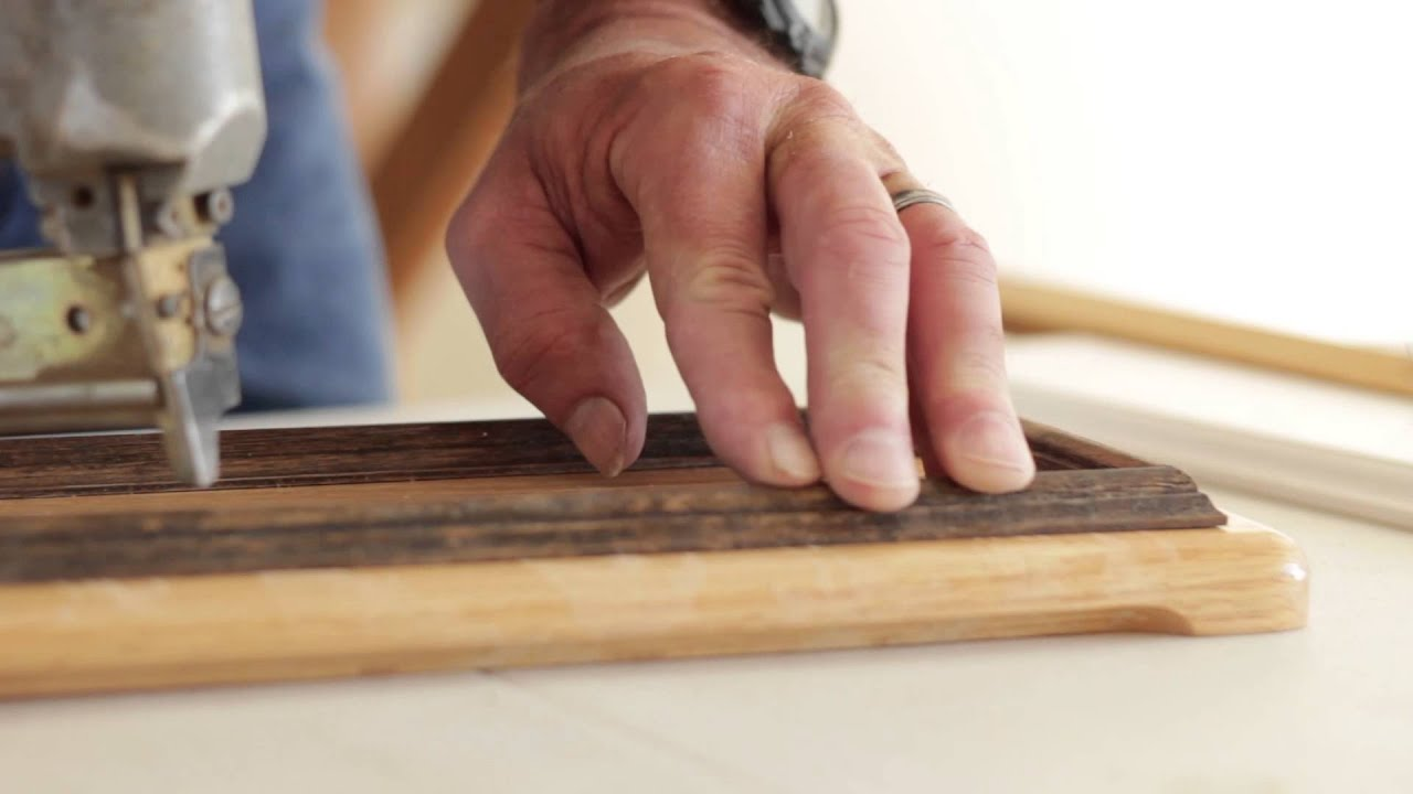 How to Install Moulding Trim on Kitchen Cabinet Doors : Good Wood ...