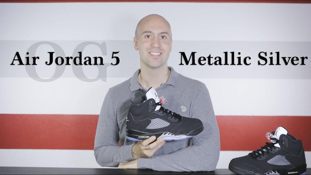 6c687c976565 Air Jordan 5 OG Metallic Silver 2016 - Unboxing + Review - On Feet ...