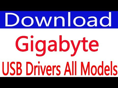 How To Free Download Gigabyte USB Drivers (all Models)