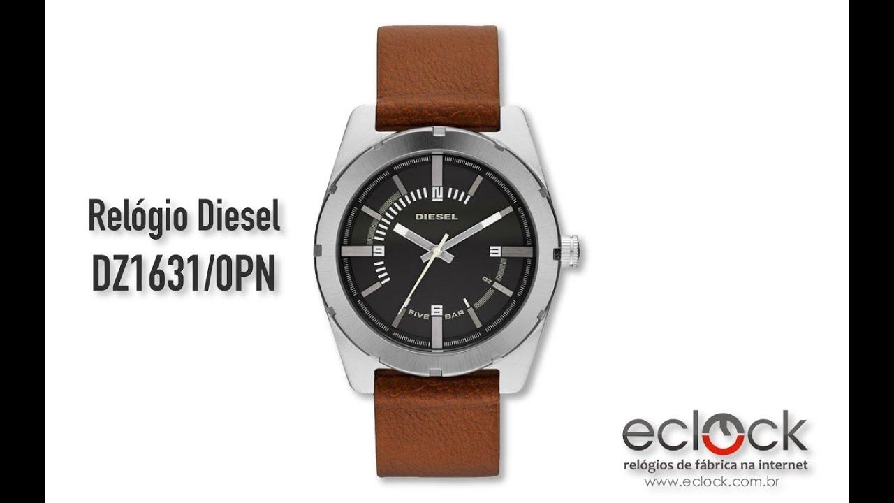 4d605409ea7 Relógio Diesel Masculino DZ1631 0PN - Eclock - YouTube