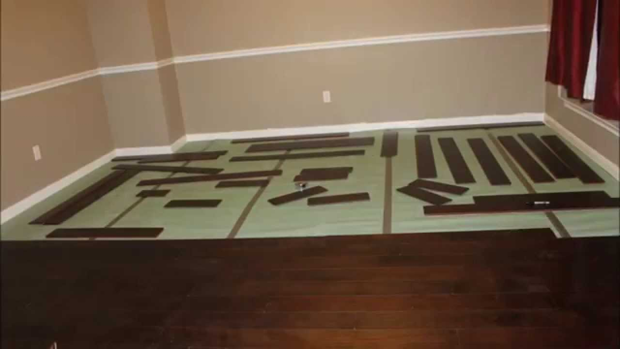 Click lock flooring install time lapse youtube - Parquet click clack ...