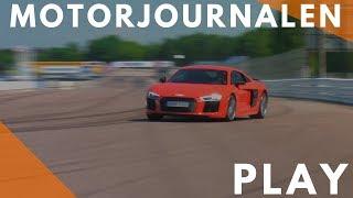 Audi R8 V10 Plus on track