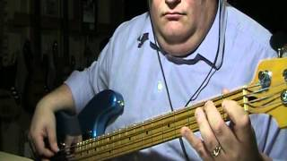 Creedence Clearwater Revival I put a spell on you Bass Cover with Bass Notes & Tablature