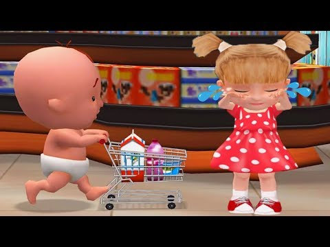 Being Considerate - Baby Haha Learn To Be Polite In Supermarket - Fun Educational Games For Kids