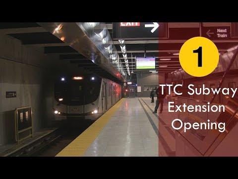 [HD] Toronto (TTC) Subway Extension Opens December 17, 2017