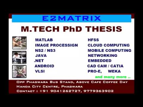 MATLAB Thesis, M.tech, PhD Thesis - Chandigarh