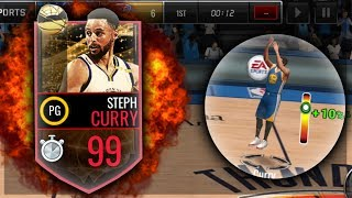 NBA Live Mobile - 99 STEPH CURRY IS A GLITCH!!! FINALS MVP GAME 5 GAMEPLAY!! BUZZER BEATER ABILITY!!