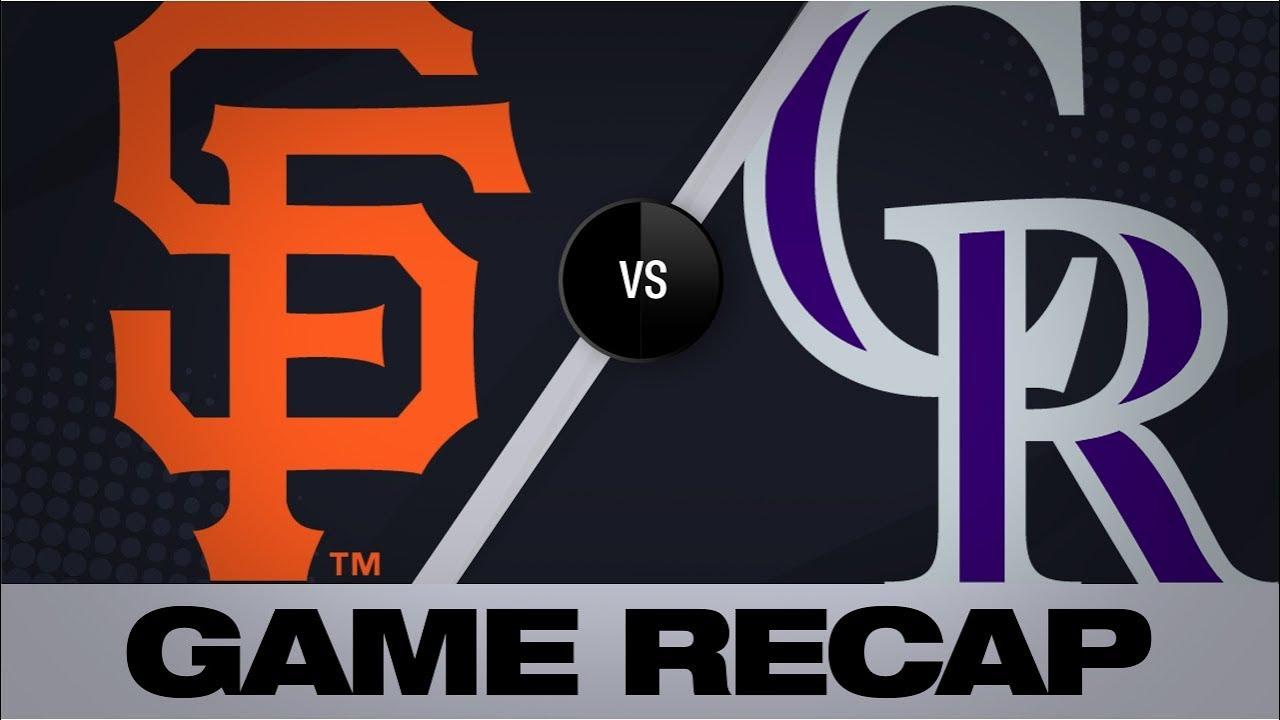 Giants @ Rockies, 8/3