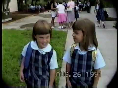 1st Day Of First Grade. Epiphany Cathedral School Venice Florida1991