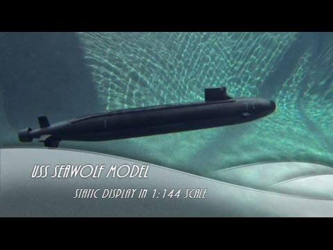 USS Seawolf submarine - aquarium display model