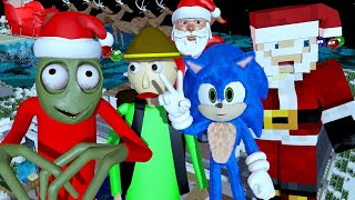 SALAD FINGERS vs BALDI IN MINECRAFT 3 CHRISTMAS CHALLENGE! Ft. Sonic (official) Minecraft Animation