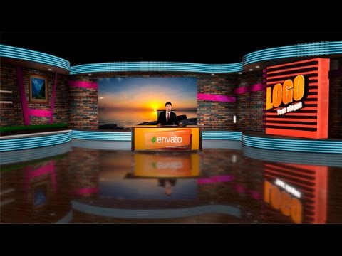 3D Virtual Studio | After Effects Template | Envato Broadcast Design Nightly News