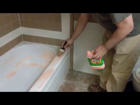 Remove epoxy paint from bathtub with Citristrip