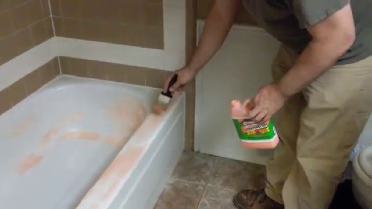 Remove epoxy paint from bathtub with Citristrip  YouTube