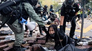 Hong Kong Protesters Trapped in University Surrounded by Police