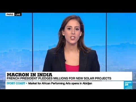 FRANCE MEDIA ON EMMANUEL MACRON VARANASI VISIT AND ISA