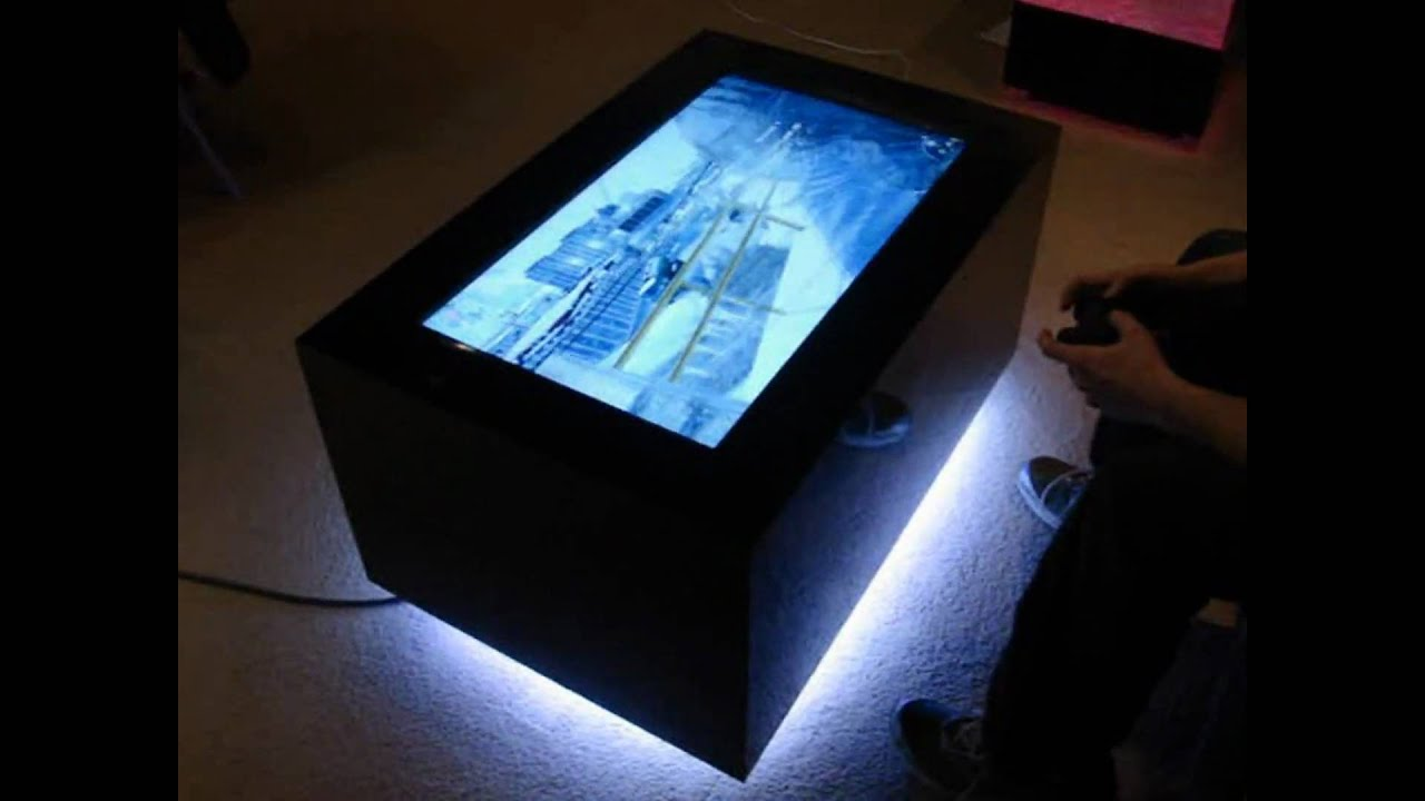 video table led coffee table youtube