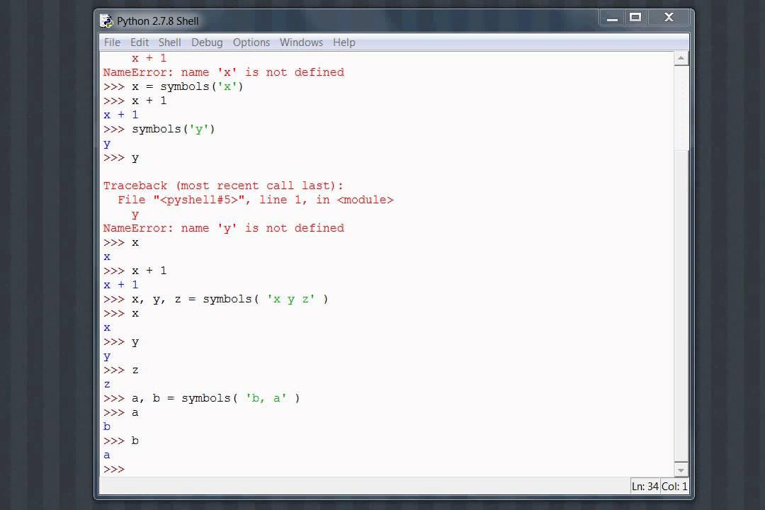 Python Sympy 02 Symbols Youtube