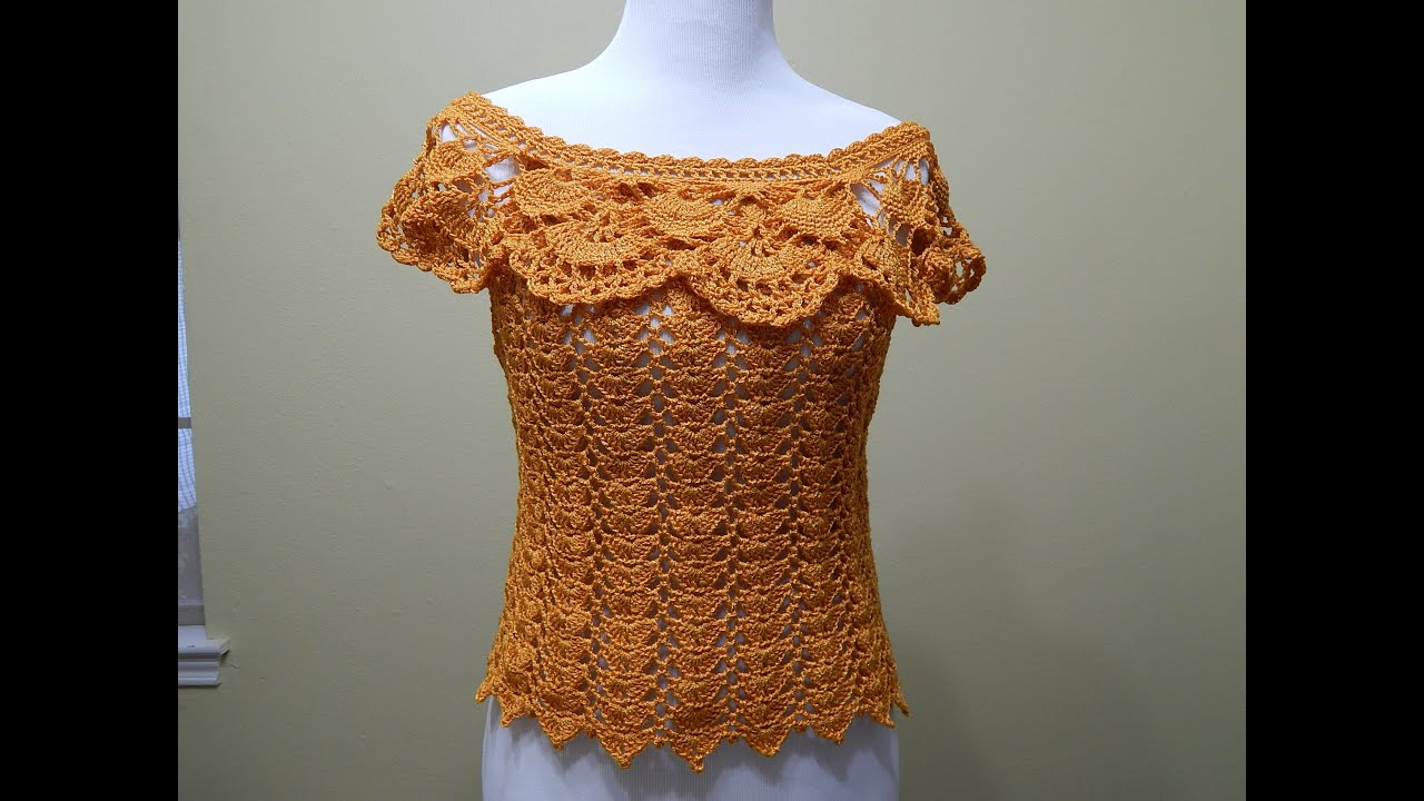 Blusa Tejida para Verano Crochet parte 1 de 2 - YouTube