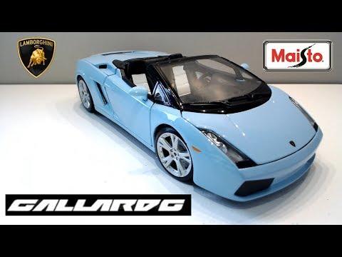 Maisto 1/18 Scale Lamborghini Gallardo Spyder   Diecast Model Car