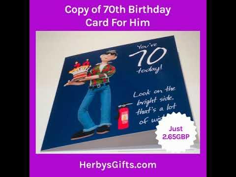 70th Birthday Card For Him 2019