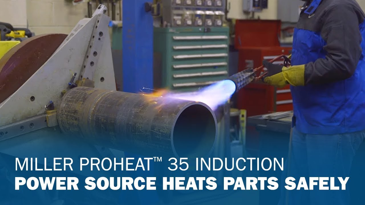 Miller Proheat 35 Induction Power Source Heats Parts Safely