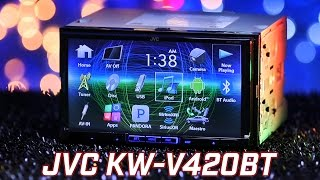 JVC KW-V420BT Stereo - Demo & Review 2016
