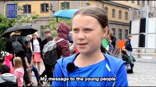 Greta Thunberg talks to RSGS