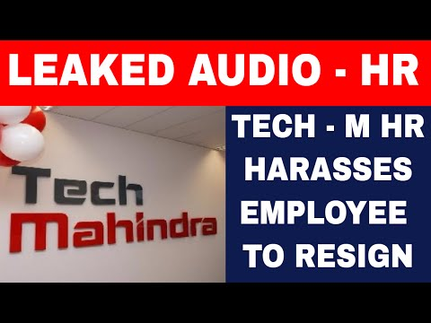 Leaked Audio of Tech Mahindra HR Harrassing Employees to res