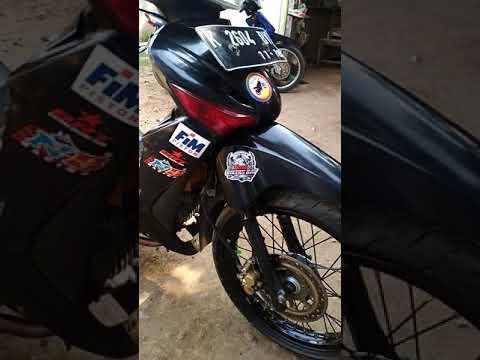 Supra 125 Tampilan standard full variasi roadrace