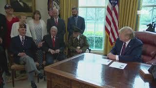 President Trump Greets World War ll Veterans
