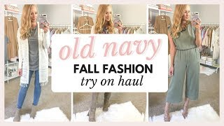 OLD NAVY TRY ON HAUL - FALL 2018 OUTFITS