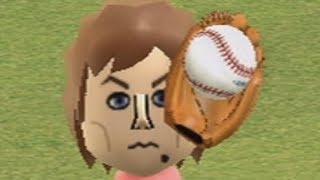 wii sports raging and funny moments - baseball max level
