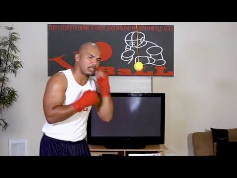 Vo Ball Boxing and Fitness DVD- Advanced straight right countdown #voball
