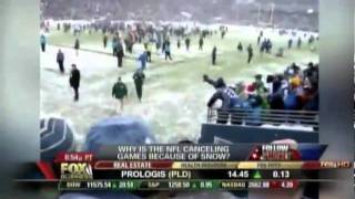 "NFL Cancels Game Because of Snow - Leslie Marshall on ""Follow the Money"" 12/28/10"