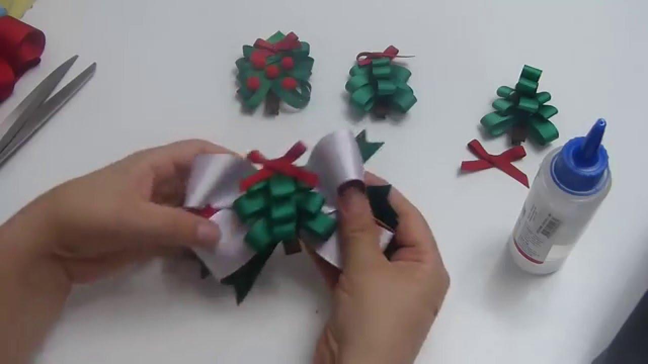 Arbolito de navidad en cintas para clips o lazos en cinta - Cinta arbol navidad ...