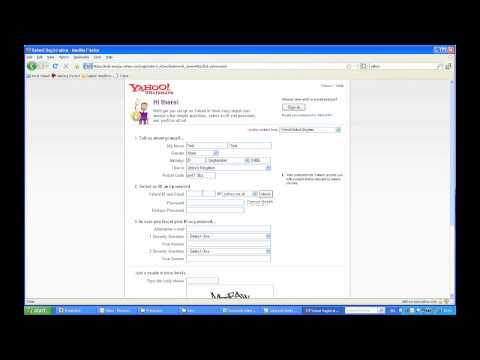 Yahoo account creation - inline validation