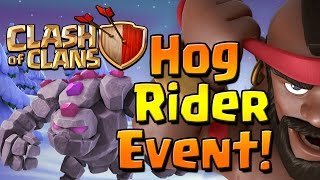 Clash of Clans: HOG RIDER EVENT!!!  Let's make some Bacon!!!  Christmas Update