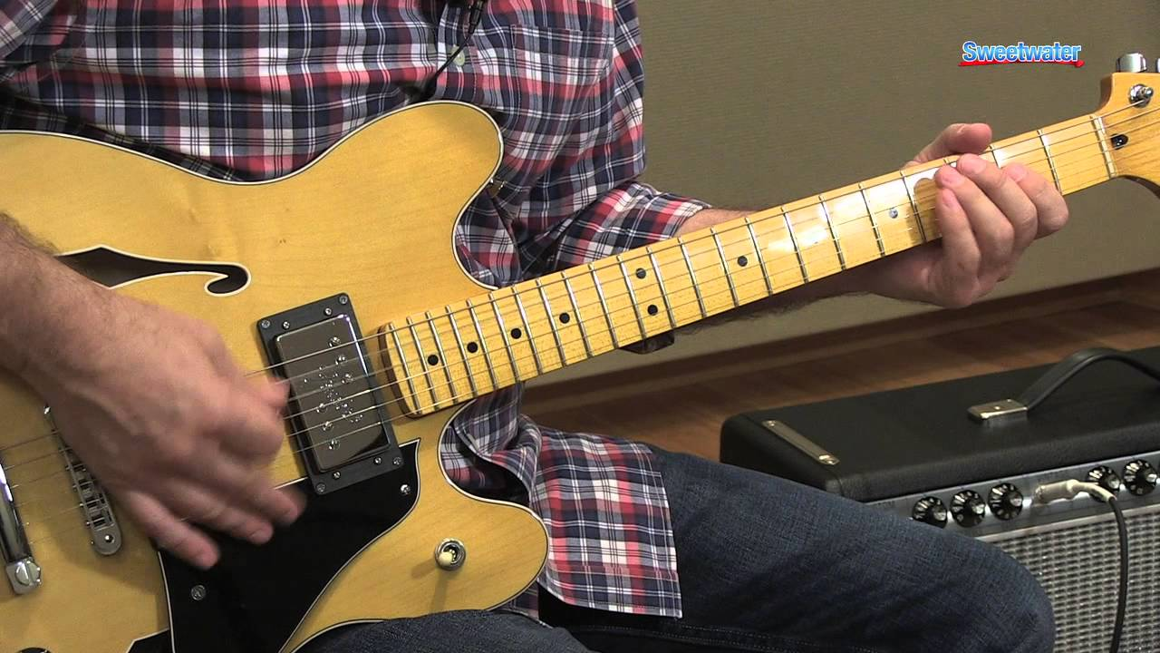 fender modern player starcaster semi hollowbody electric guitar demo sweetwater sound youtube. Black Bedroom Furniture Sets. Home Design Ideas
