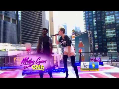 """Miley Cyrus Feat. Will.I.Am - """"Fall Down"""" (Live on Good Morning, GMA)"""