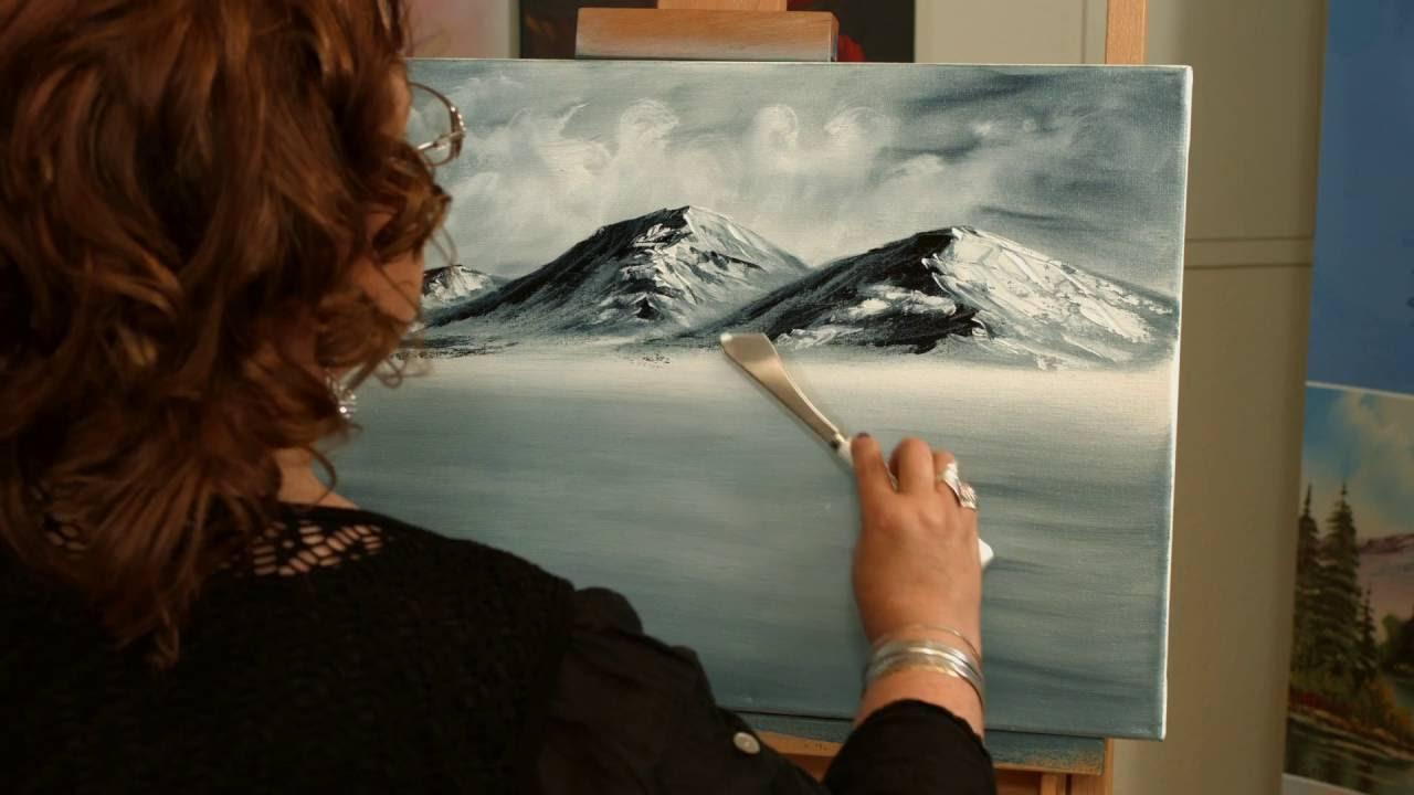 Ottilies Kunst: Monochromes Malen von Ottilie Scherer nach Bob Ross