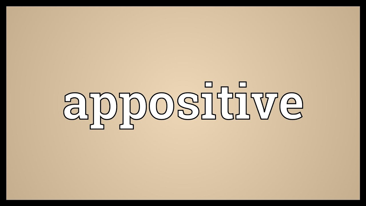 appositive meaning youtube