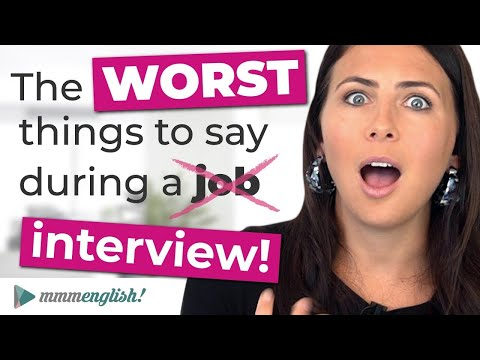 The WORST things to say in a job interview 🤦‍♀️