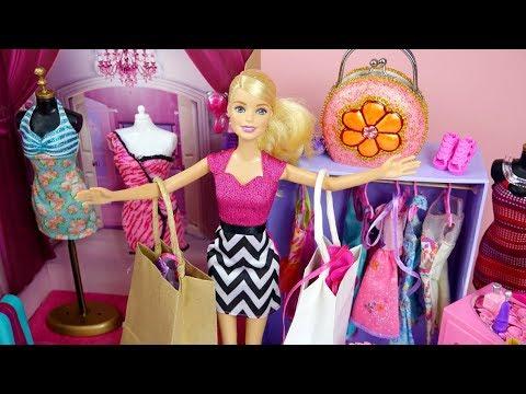 Barbie ️ Loves to Shop Barbie Dress Shopping Beauty Barbie ...