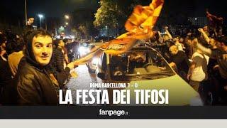 Roma-Barcellona, per le strade della capitale esplode la festa dopo la vittoria per 3 a 0
