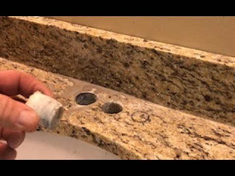 How To Drill/Cut Faucet Holes In A Granite Countertop