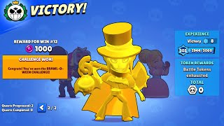 12-0 gold mortis only in Brawl-O-Ween challenge